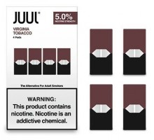 JUUL PODS (4 картриджи) — VIRGINIA TOBACCO 5% (оригинал)
