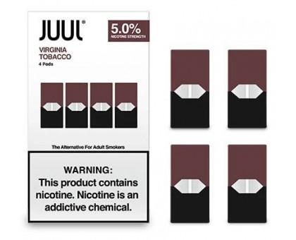 JUUL PODS (4 картриджи) — VIRGINIA TOBACCO 5% (оригинал)