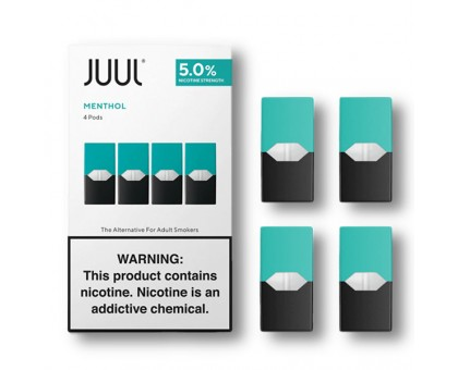 JUUL PODS (4 картриджи) — MENTHOL 5% (оригинал)