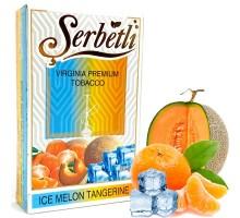 Табак для кальяна Serbetli Ice Melon Tangerine / Ледяная Дыня Мандарин 50 грамм(Потекшая пачка)