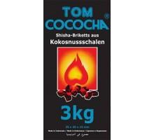 Уголь кокосовый Tom Cococha BLUE 3кг (360 шт), малый кубик
