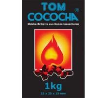 Уголь кокосовый Tom Cococha  BLUE 1кг (120шт), (малый кубик)