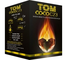 Кокосовый уголь Tom Cococha C23 0,8кг (72 шт), 23x23x23