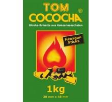 Уголь кокосовый Tom Cococha Hexagon Sticks 1кг