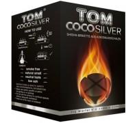 Уголь кокосовый Tom Cococha Silver Edition 1кг (60 шт), большой кубик