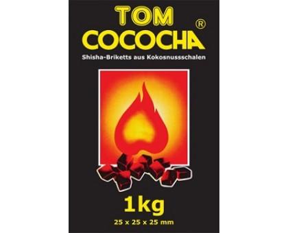 Уголь кокосовый Tom Cococha YELLOW 1кг (72 шт), большой кубик