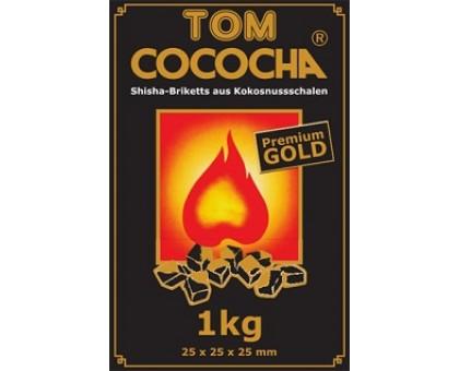 Уголь кокосовый Tom Coco GOLD 1кг (72 шт), большой кубик