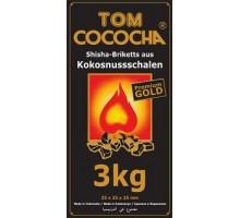 Уголь кокосовый Tom Cococha GOLD 3 кг (216 шт), большой кубик