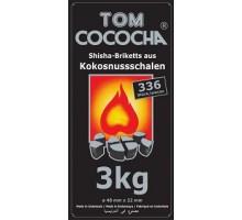 Уголь кокосовый Tom Coco Silver Edition 3 кг (336 шт), малый кубик