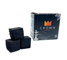 Уголь для кальяна Crown 0.250  (18шт) большой кубик
