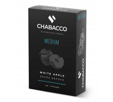 Табак для кальяна Chabacco White Apple (Белое Яблоко) Medium 50 г