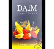 Табак для кальяна Daim Strawberry Banana / Клубника Банан 50 грамм