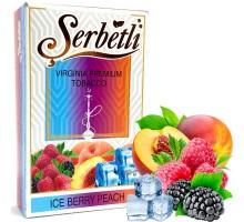 Табак для кальяна Serbetli Ice Berry Peach / Ледяные Ягоды Персик 50 грамм