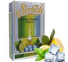 Табак для кальяна Serbetli Ice Lemon Mint / Лед Лимон Мята 50 грамм(Потекшая пачка)
