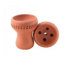 Чаша для кальяна Grynbowls Турка красная глина с дырочками