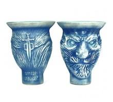 Чаша для кальяна GrynBowls White Walker (Гринбоулс Белые Ходоки) фанел синяя