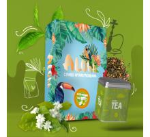 Безникотиновая Смесь Aloha Jasmine Tea (Алоха Жасминовый Чай) 100 грамм
