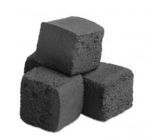 Уголь кокосовый поштучно 25 х 25 х 25 мм