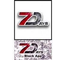 Табак для кальяна 7 Days Black App 50 грамм
