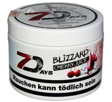 Табак для кальяна 7 Days Blizzard Cherry Juice / Охлажденный Вишнёвый Сок 200 грамм