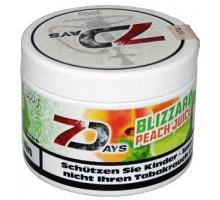 Табак для кальяна 7 Days Blizzrd Peach Juice / Охлажденный Персиковый Сок 200 грамм
