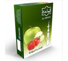 Табак для кальяна Al Waha Apple Strawberry / Яблоко клубника 50 грамм