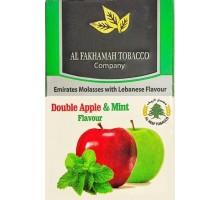 Табак для кальяна Al Fakhamah Double Apple Mint / Двойное яблоко мята 50 грамм (срок годности истек)