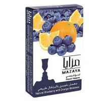Табак для кальяна Mazaya Blueberry With Orange / Черника апельсин 50 грамм