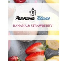 Табак для кальяна Panorama Banana Strawberry / Банан клубника 50 грамм