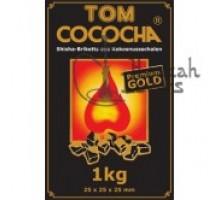 Уголь для кальяна Tom Coco Gold 1 кг (72 шт) , большой кубик ( в целлофане )