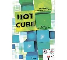 Уголь кокосовый Hot Cube 1кг (96шт), большой кубик