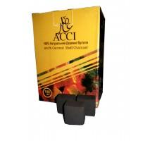 Уголь кокосовый  ACCI 1кг (120 шт), малый кубик