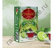 Табак для кальяна Pelikan Black Tea Lime / Черный Чай С Лаймом 50 грамм