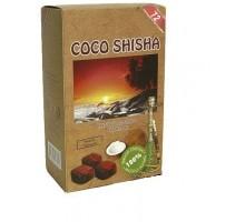 Уголь кокосовый Coco shisha 1кг (72 шт), большой кубик